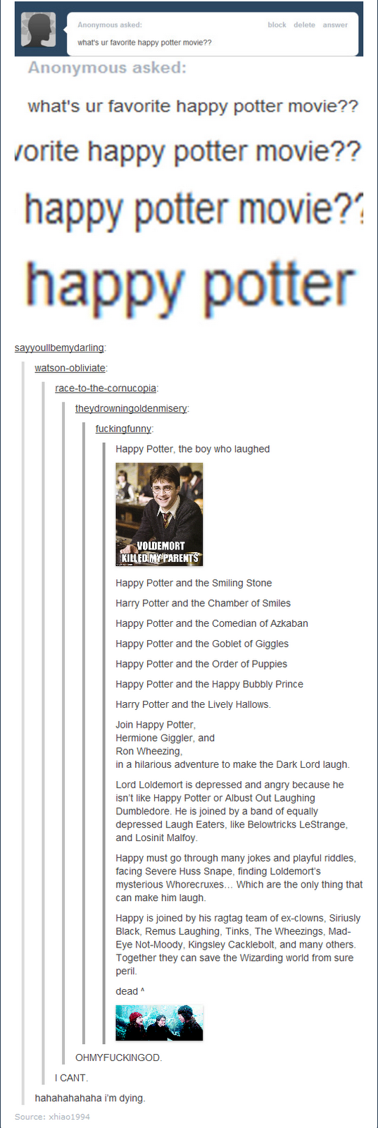 Happy Potter, funny, troll, stupid