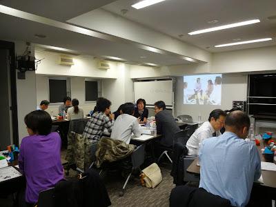 紀尾井町ラーニングカフェでのアクションラーニング演習の写真