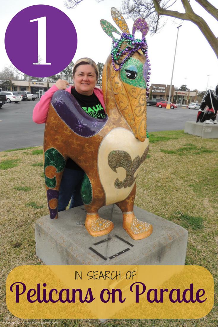 Bon veiller, cher: Pelicans on Parade #1 | Public art displays in Lafayette, Louisiana | bonveillercher.blogspot.com