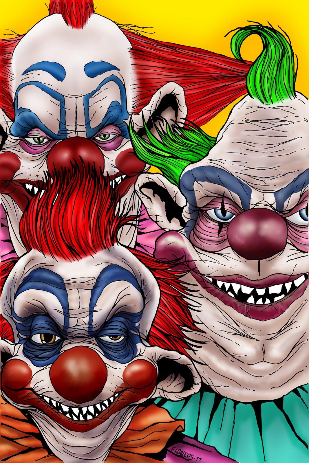 The art of jason flowers september 2011 for Killer klowns from outer space
