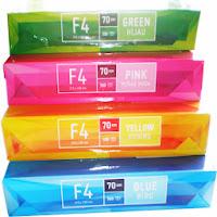 kertas hvs f4 70 warna