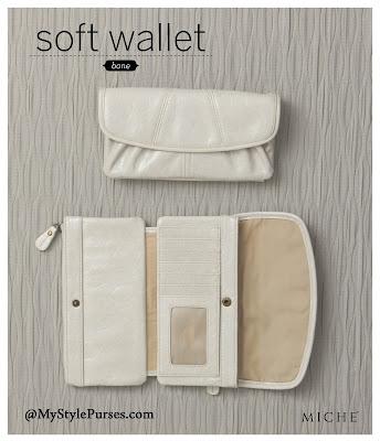 Miche Soft Wallet in elegant bone color