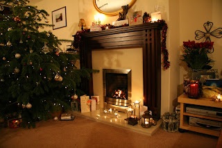Fireplace Decorating for Christmas, Part 1