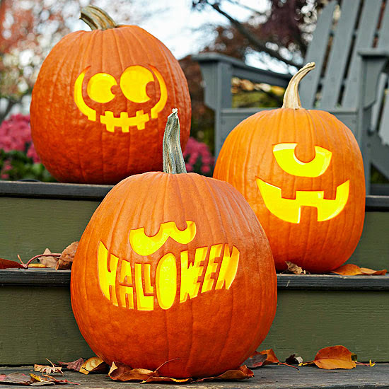 Modern furniture halloween 2013 entry decorations ideas Easy pumpkin painting patterns