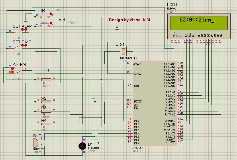 electronics projects and details lcd based digital alarm clockelectronics projects and details lcd based digital alarm clock using 89s51 microcontroller