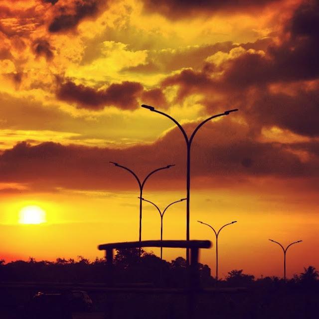 jalan jalan sore ngeliat sunset
