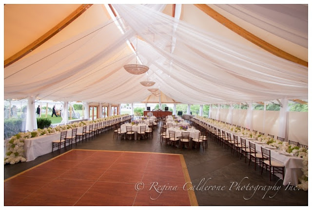draped tent wedding