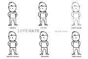 . and didn't fit Love Hate's more sketchy cutout look. lovehate filtertests