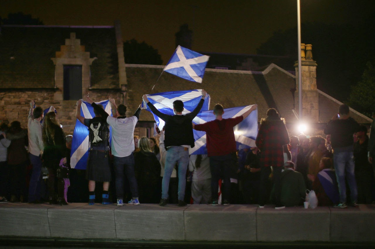 The results of the Scottish independence referendum