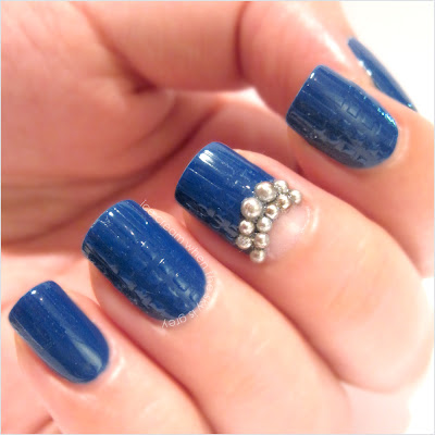 Blue & Silver Pearls Nail Art Chanel Spring Summer 2013 Ready To Wear Show Inspired (Preview)