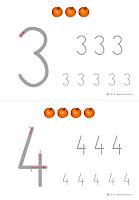 kaligrafia cyfr do wydrukowania - dynie