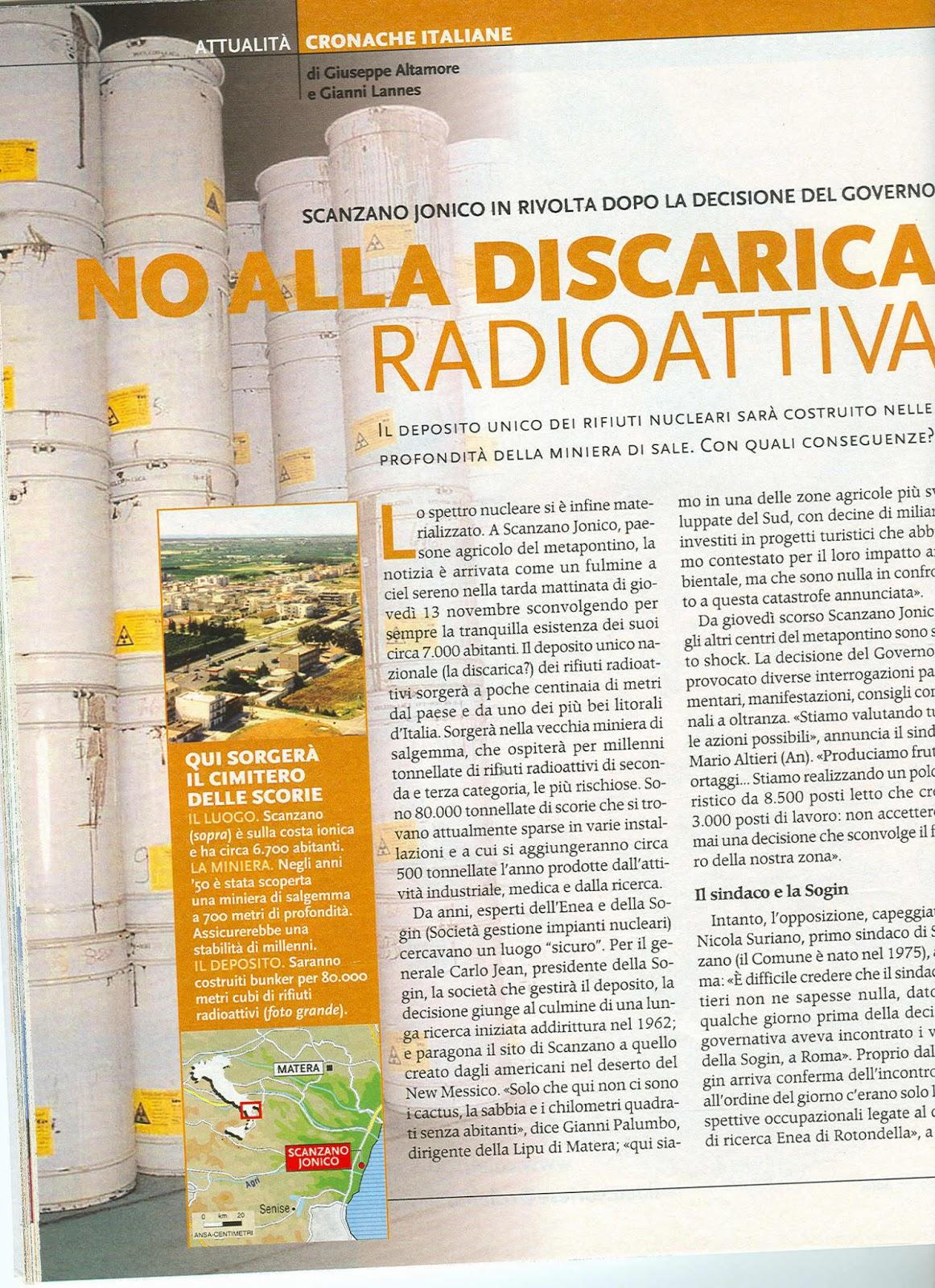 Altrainformazione rifiuti radioattivi abbandonati da for Luoghi abbandonati nord italia