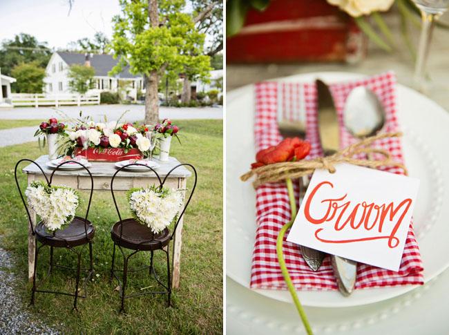 Mesa de boda para dos...temática manzanas