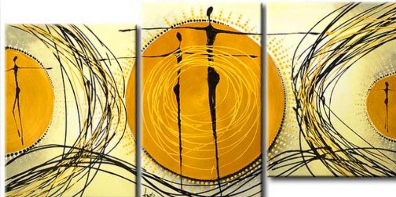Cuadros pinturas oleos pintura cuadros tripticos modernos - Triptico cuadros modernos ...