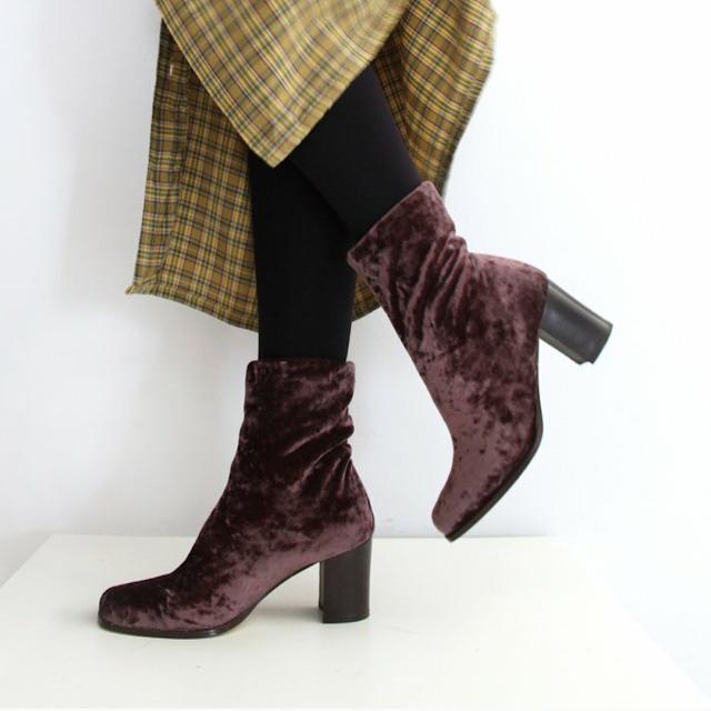 ankle boots velluto velvet depop