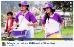 Minga de Letras 2010 en La Vicentina