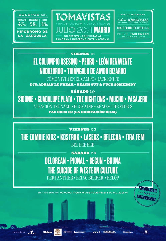 CARTEL FESTIVAL TOMAVISTAS MADRID 2014