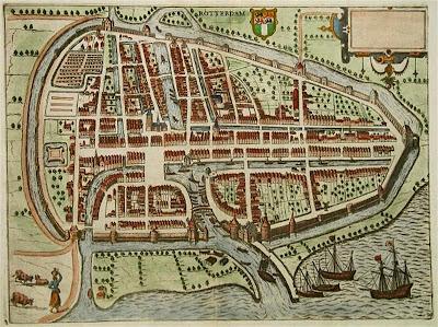 Mapa de Rotterdam del siglo XVI