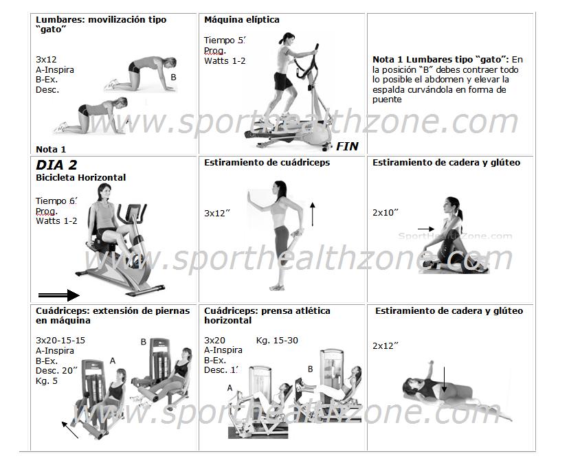 Ejercicios fitness wellness ejercicios para la prevencion for Gimnasio 8 de octubre