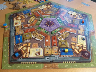 Belfort game pentagonal board