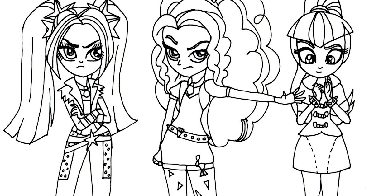 Unusual My Little Pony Equestria Girls Rainbow Rocks Coloring Pages ...