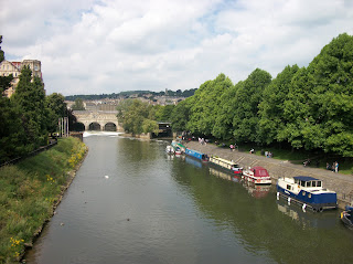 Boats on the river in Bath