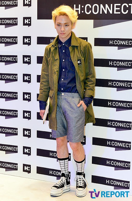Shinee Key and Minho at H:Connect grand opening 130503-3