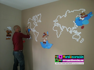 Decoración en Madrid mural infantil