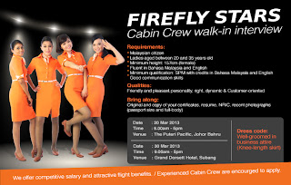 Fly gosh firefly cabin crew walk in interview for Cabin crew recruitment agency philippines