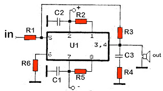 high power car amplifier circuit