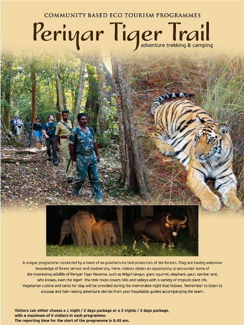 Periyar Tiger Reserve, Thekkady, Kerala, India., offers trekking in rain forest, jungle safari