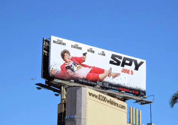 Melissa McCarthy Spy movie billboard
