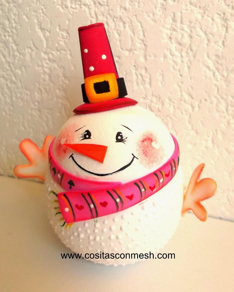 C mo hacer adorno navide o casero cositasconmesh - Adornos navidenos caseros para ninos ...