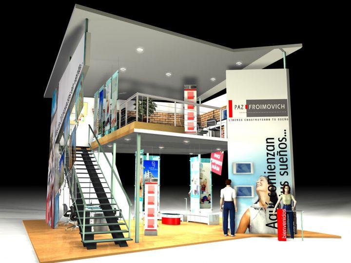 Dise o de stand para ferias exposiciones congresos for Disenos de stand para exposiciones