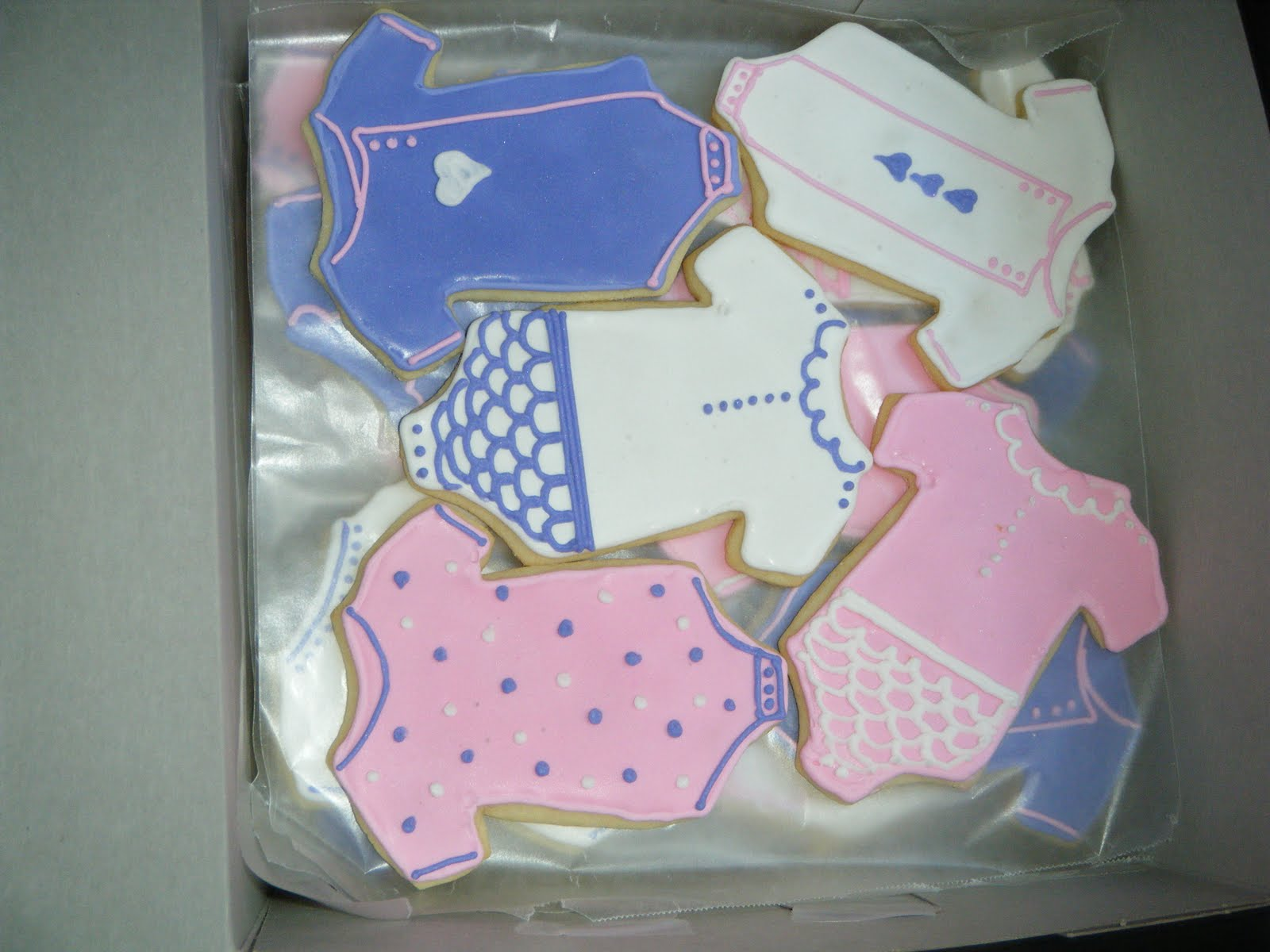 Cassy s Cakes Clothes line baby shower cookies