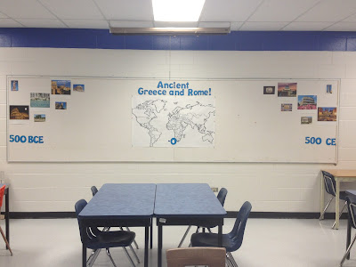Interactive bulletin board, QR codes in the classroom