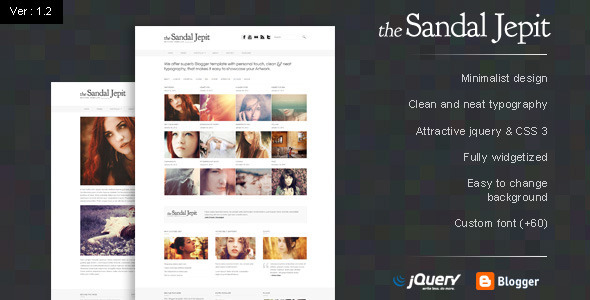 Download Sandal Jepit Premium Blogger Template