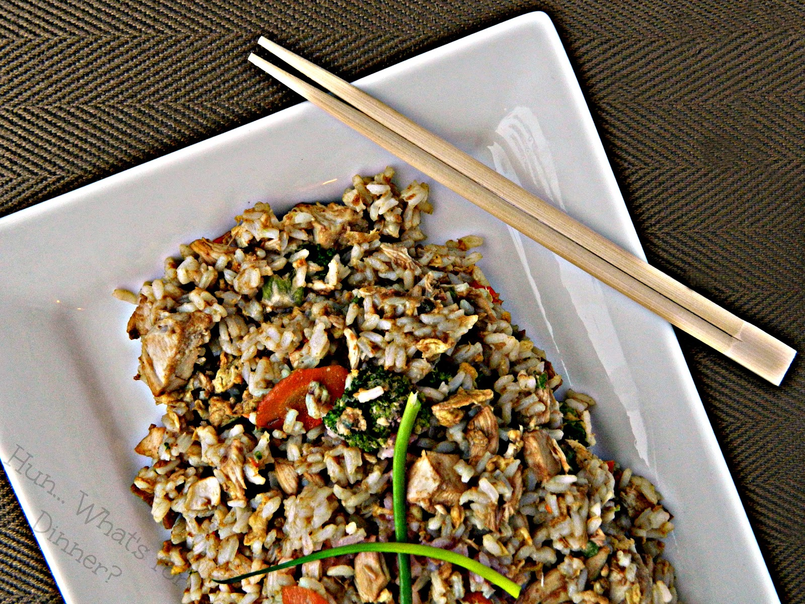 Hun... What's for Dinner? | Chicken Fried Rice- Leftover chicken and white rice, is transformed in this super easy and delicious fried rice.