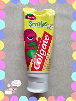 creme dental smiles colgate até seis anos barney mon maternité