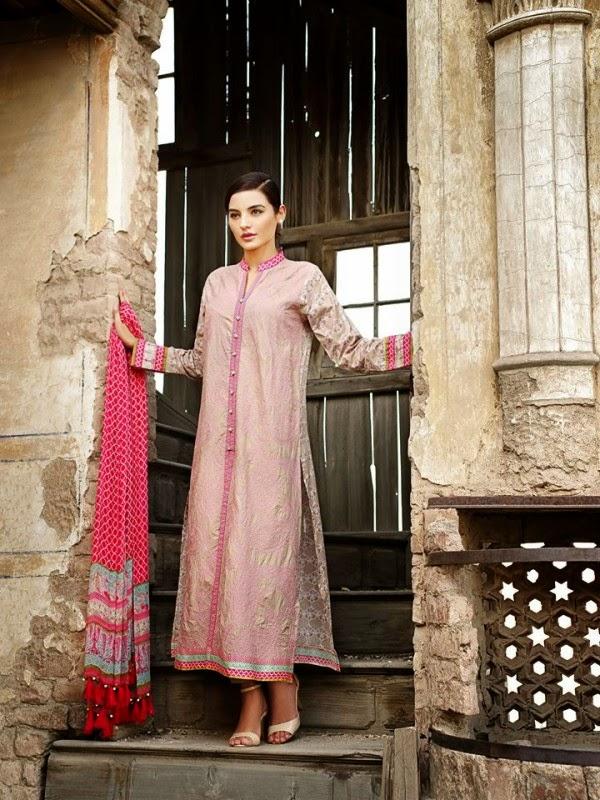 New Khaadi Spring Formal Wear Dresses 2015 7