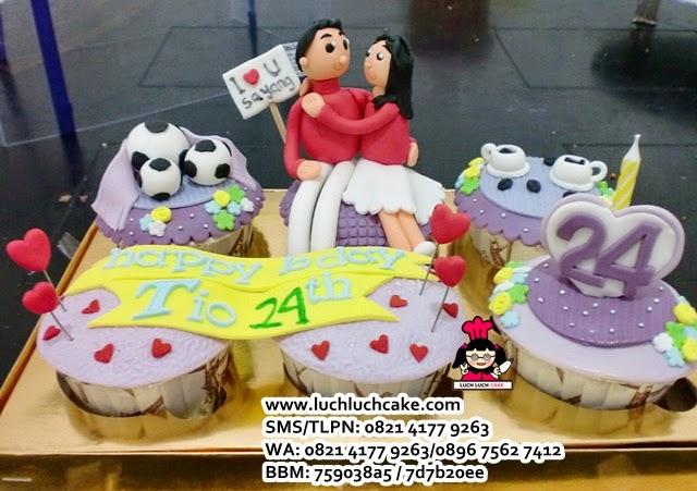 Cupcake Ulang Tahun Romantis Untuk Pacar Daerah Surabaya - Sidoarjo
