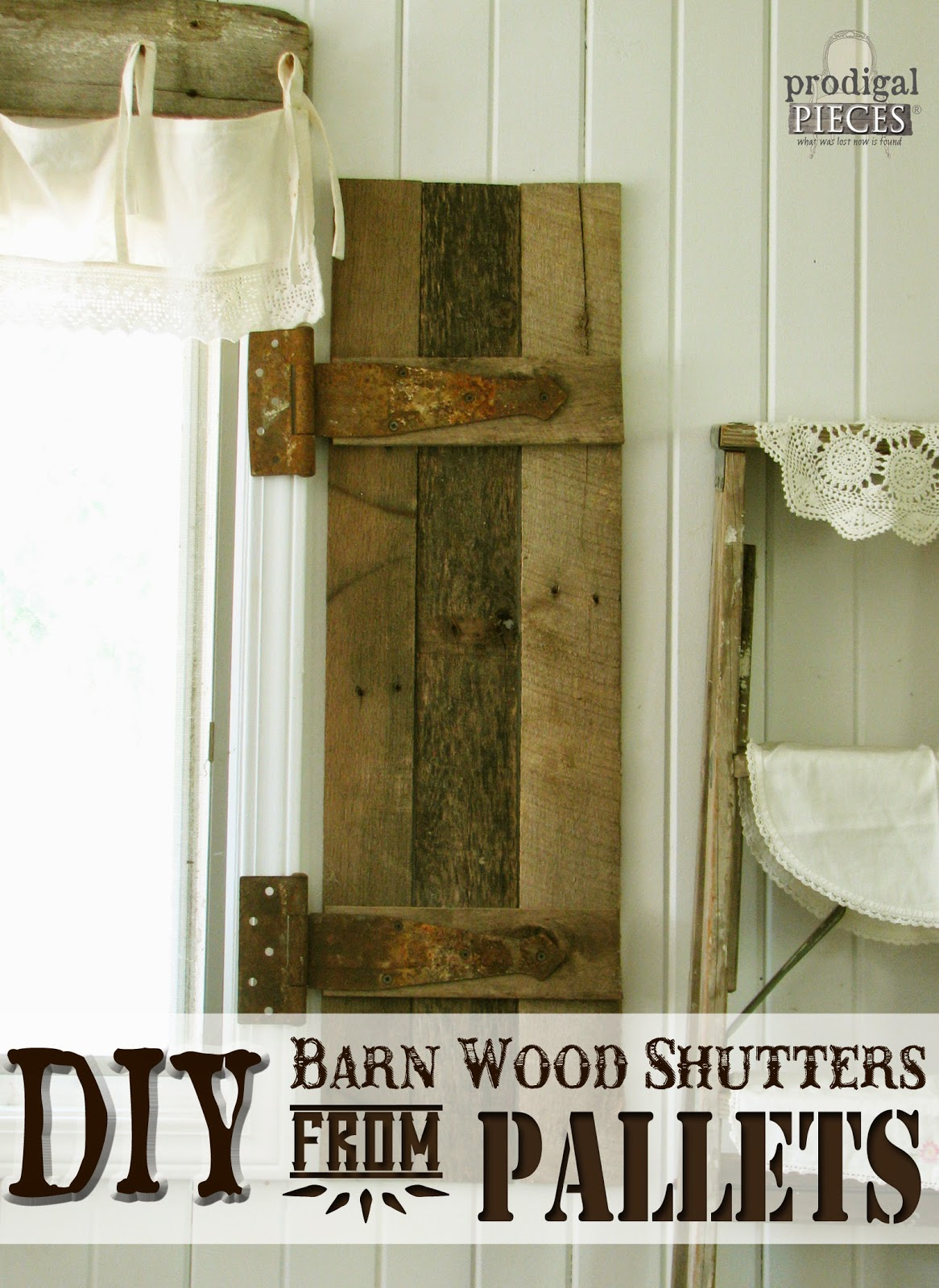 DIY Barn Wood Shutters by Prodigal Pieces at Remodelaholic http://www.prodigalpieces.com