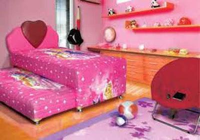 Desain Interior Ruang Tidur Pink Minmalis 05