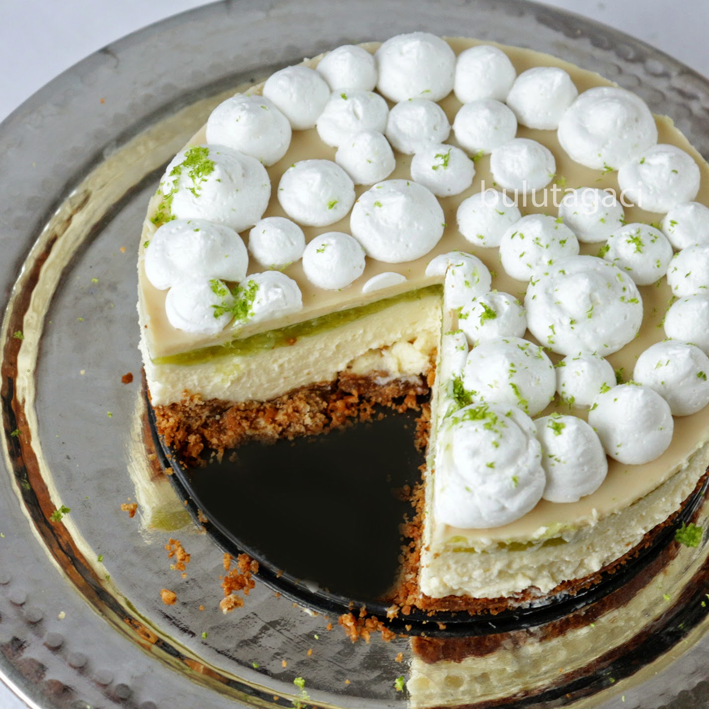 Beyaz Çikolata ve Misket Limonlu Cheesecake / No bake White Chocolate and Lime Cheesecake
