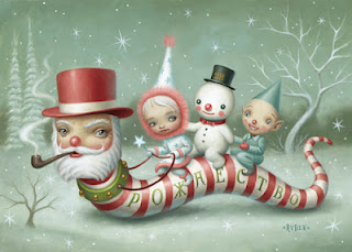 Mark Ryden painting - Santa Worm