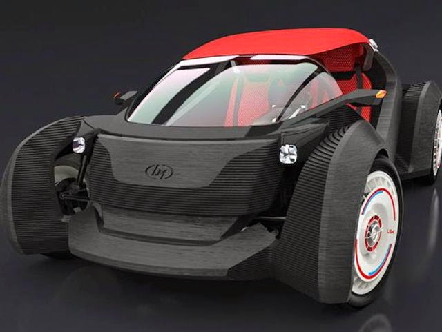 Strati, First 3D Printed Electric Car, 3D printed car