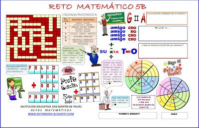 Retos Matemáticos, Problemas matemáticos, Problemas de ingenio matemático