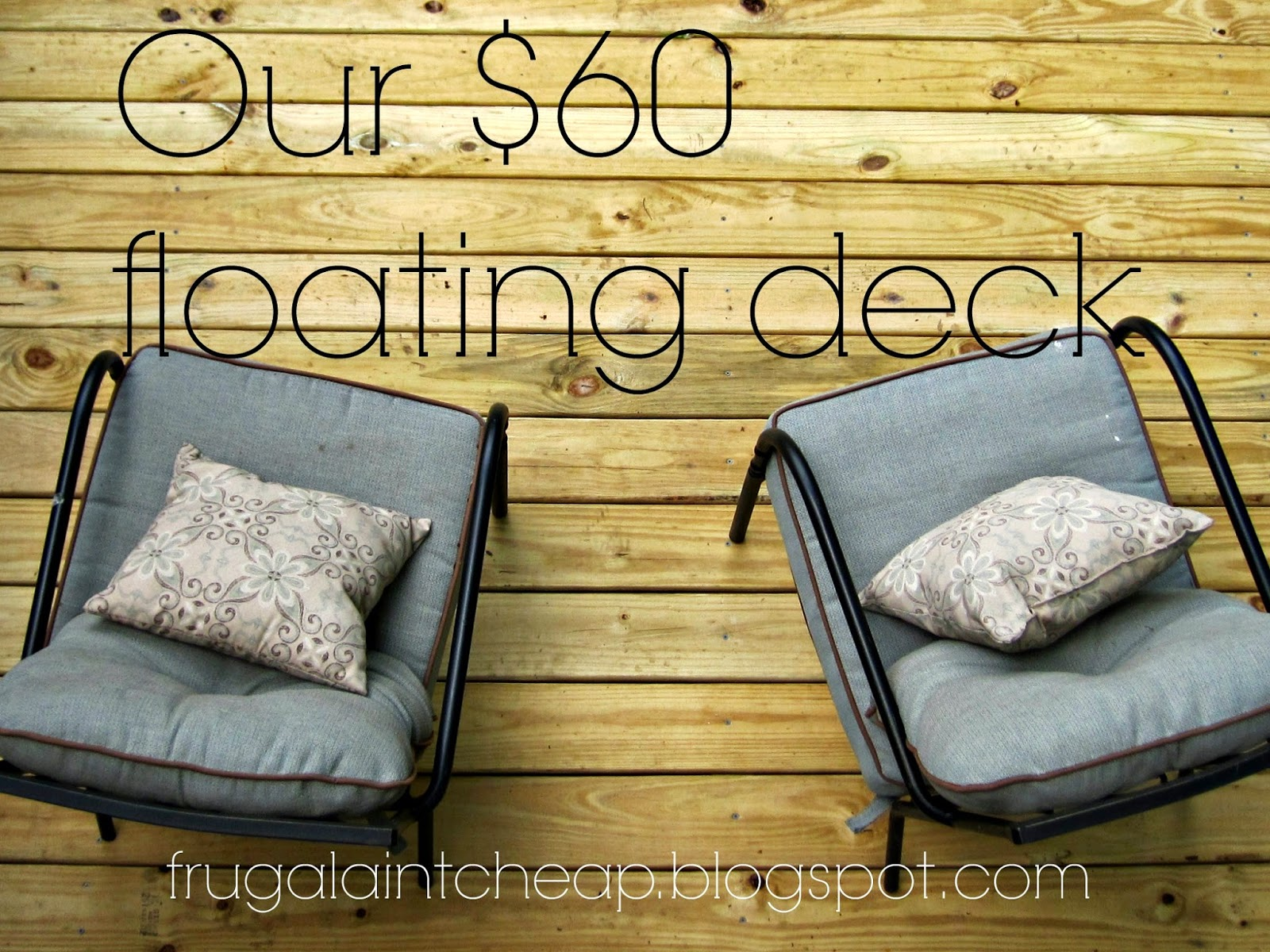 frugal ain 39 t cheap diy floating deck