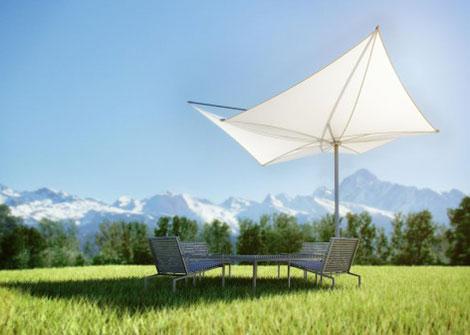 William miller design pool umbrellas for Architecture upbrella