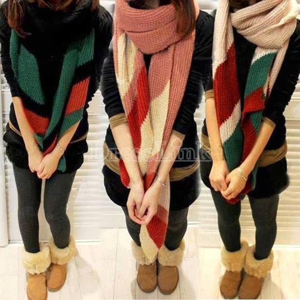 New Fashion Scarf Winter&Autumn Splicing Color Scarf Wrap 4 Colors